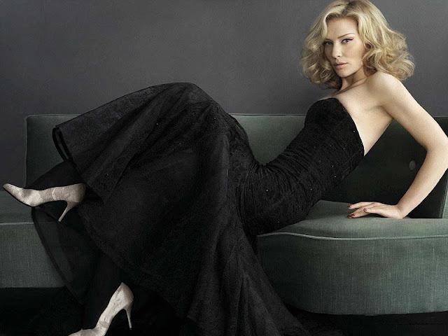 Cate Blanchett sexy in black dress