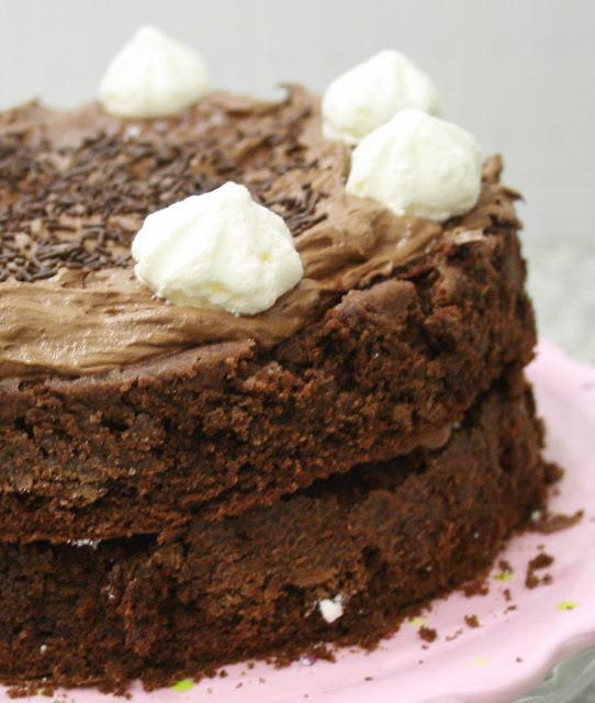 torta doppia al cioccolato