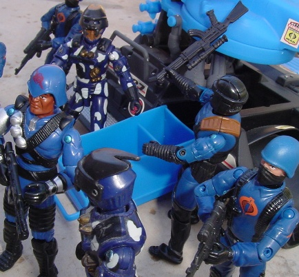 1997 Alley Viper, TRU Exclusive, 2004 Urban Assault Nullifer, Flak Viper, Lt. Clay More, Convention Exclusive, Cobra Trooper, Rage