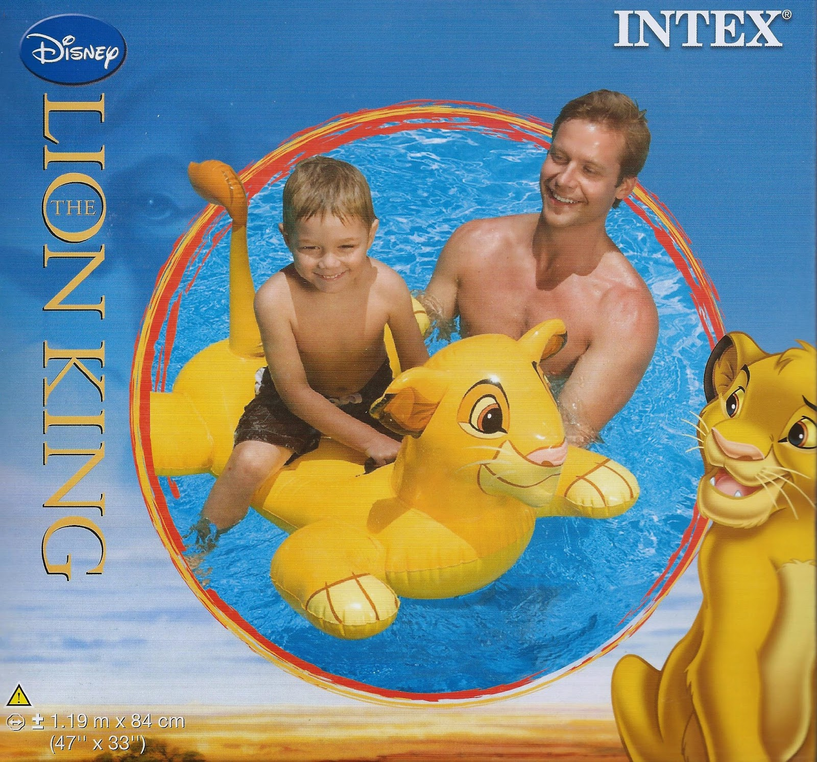 Intex Disney The Lion King Simba Animal Ride On Aa05