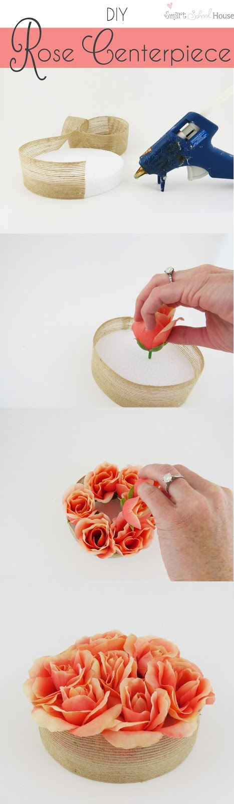 Rose peça central # DIY