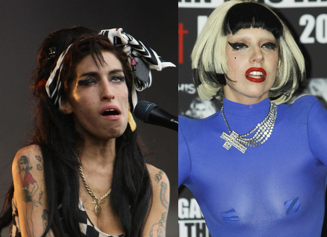 Amy Winehouse Lady Gaga Look Alike