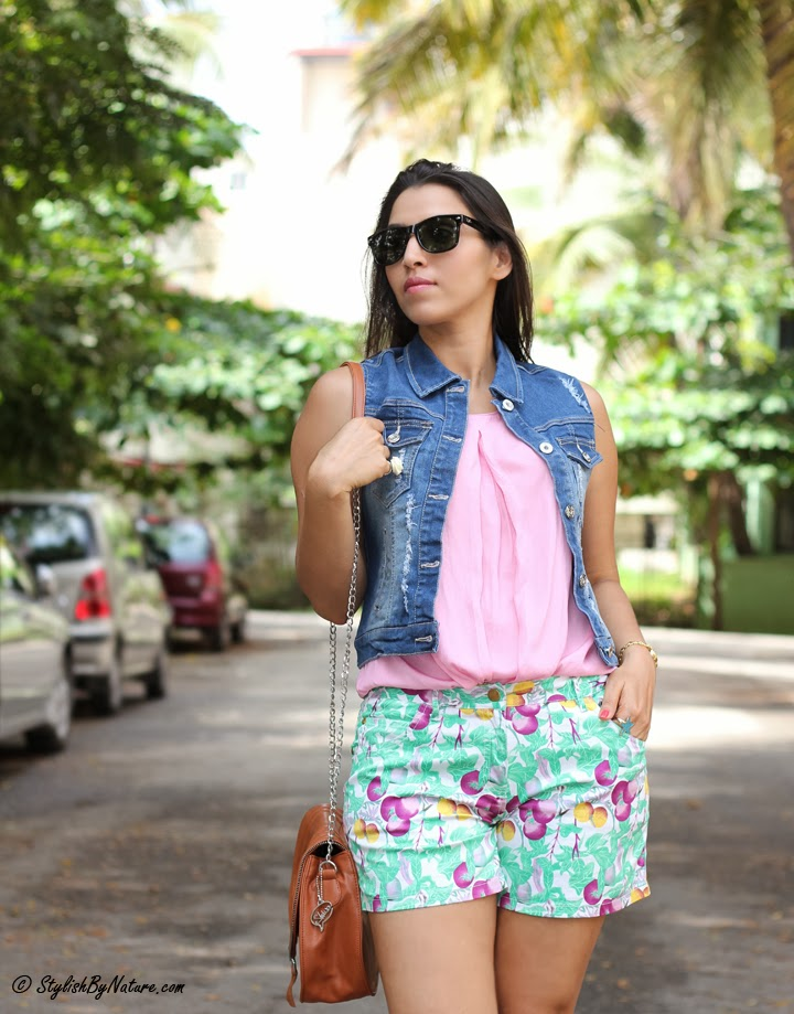 How to style tropical shorts