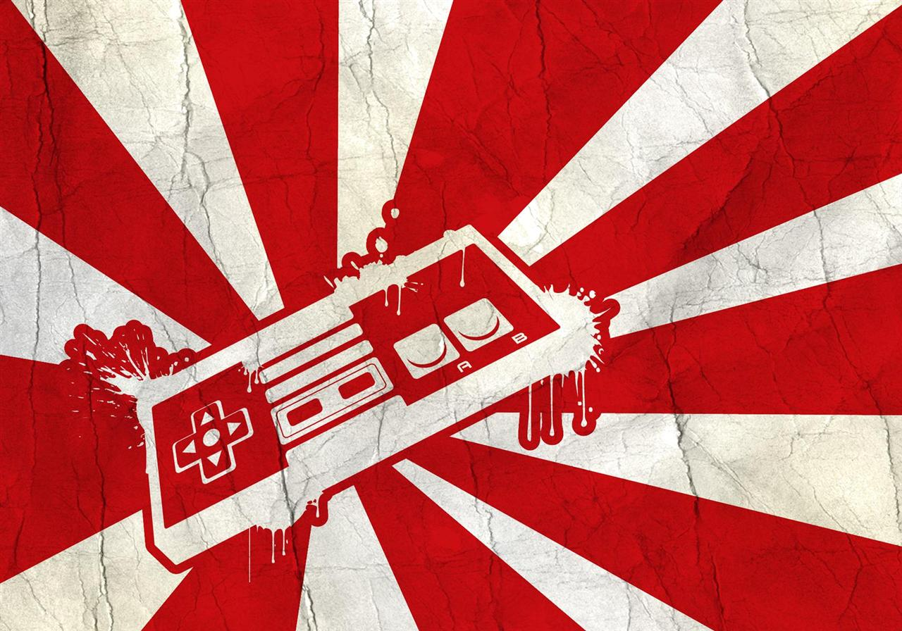 Wallpaper a day japan nintento console controller rising sun flag japan nintento console controller rising sun flag wallpaper voltagebd Images