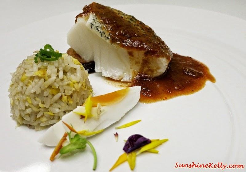 Cod Assam Pedas Sauce, Garlic Rice, Salted Egg, Tempura Egg Plant, MIGF 2014 Menu, Nook Aloft Kuala Lumpur Sentral Review, Nook KL Sentral, MIGF 2014