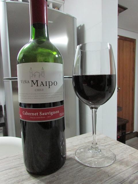 vinho, Viña Maipo, chileno, tinto