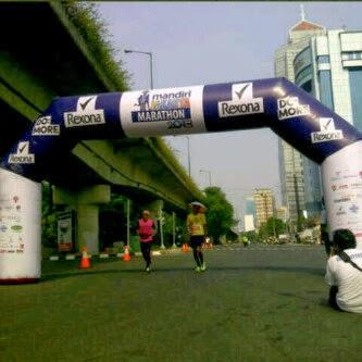 Balon Gate Rexona Mandiri Jakarta Marathon