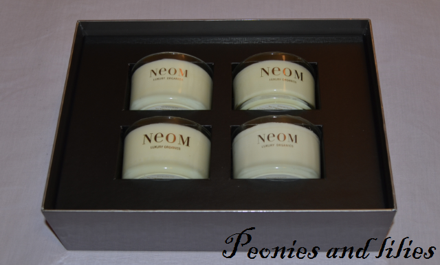 Christmas gift guide, Neom luxury organics, Neom scent with love travel candle gift set, Neom invigorate, Neom real luxury, Neom harmonise, Neom tranquillity, Scented candles, Neom scent with love travel gift set review