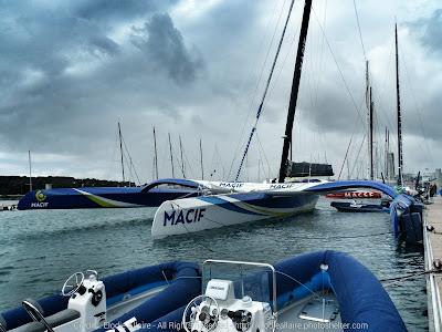 Macif à Lorient avant de rentrer à Port La Foret.