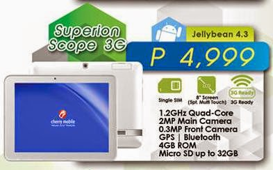 Cherry Mobile Superion Scope 3G Now Available For Php4,999