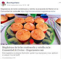 Mis Magdalenas de Leche Condensada y Vainilla, publicadas por Eva Arguiñano en su comunidad