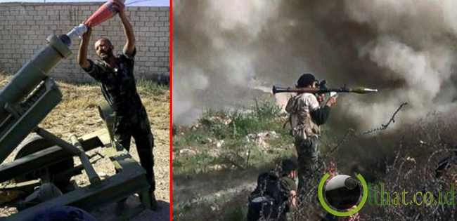 Tentara Suriah Tak Henti Serang Pemberontak