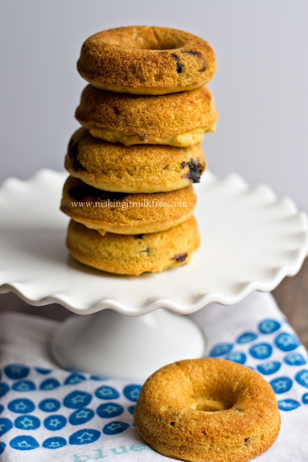 Blueberry Cornbread Donuts by Making it Milk-free