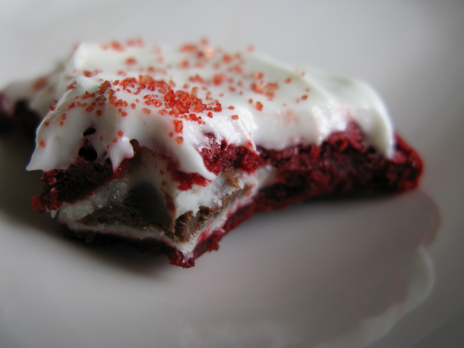 cheese topping red velvet cookie bars with cream cheese frosting ...