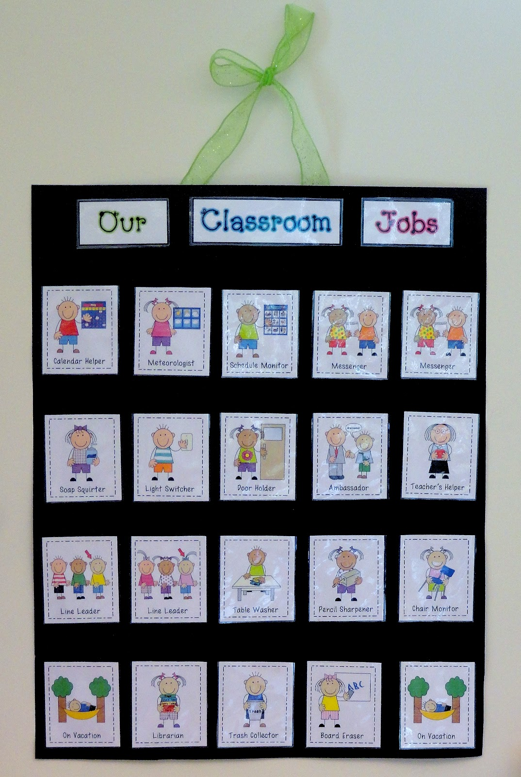 Invaluable image regarding classroom job chart printable