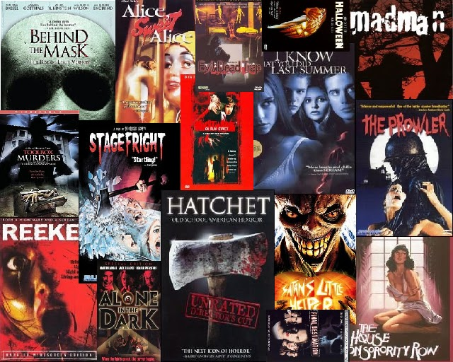 Here Are Approximately 23 Different Posters For Slasher Films All Of Whcih I Felt Were Either Very Sucessful Well Known Or Popular