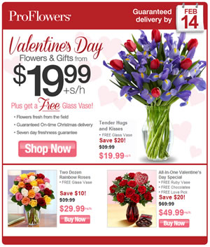 Proflowers coupon code free delivery 2019