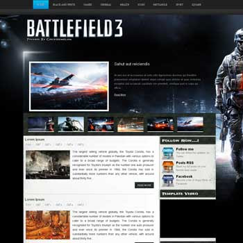 Battlefield 3 blogger template. template blogspot free. download template blogger for games