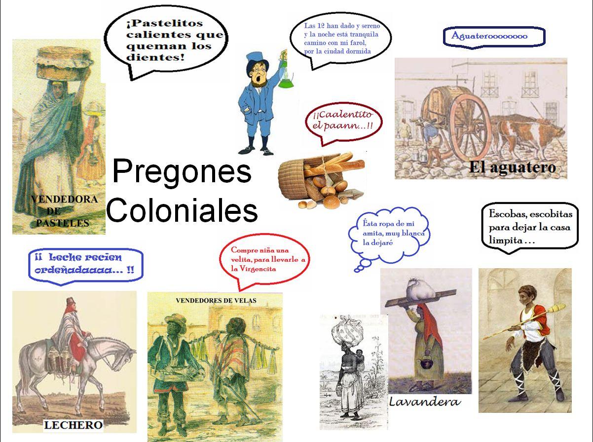 Educación Primaria : Los pregones Coloniales