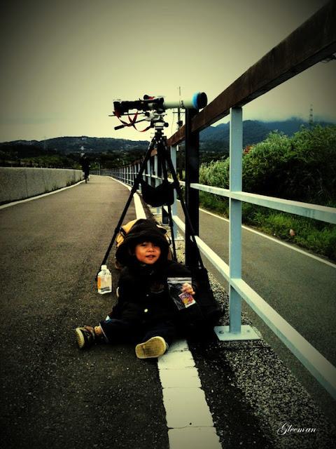 從關渡自行車道上看送子鳥