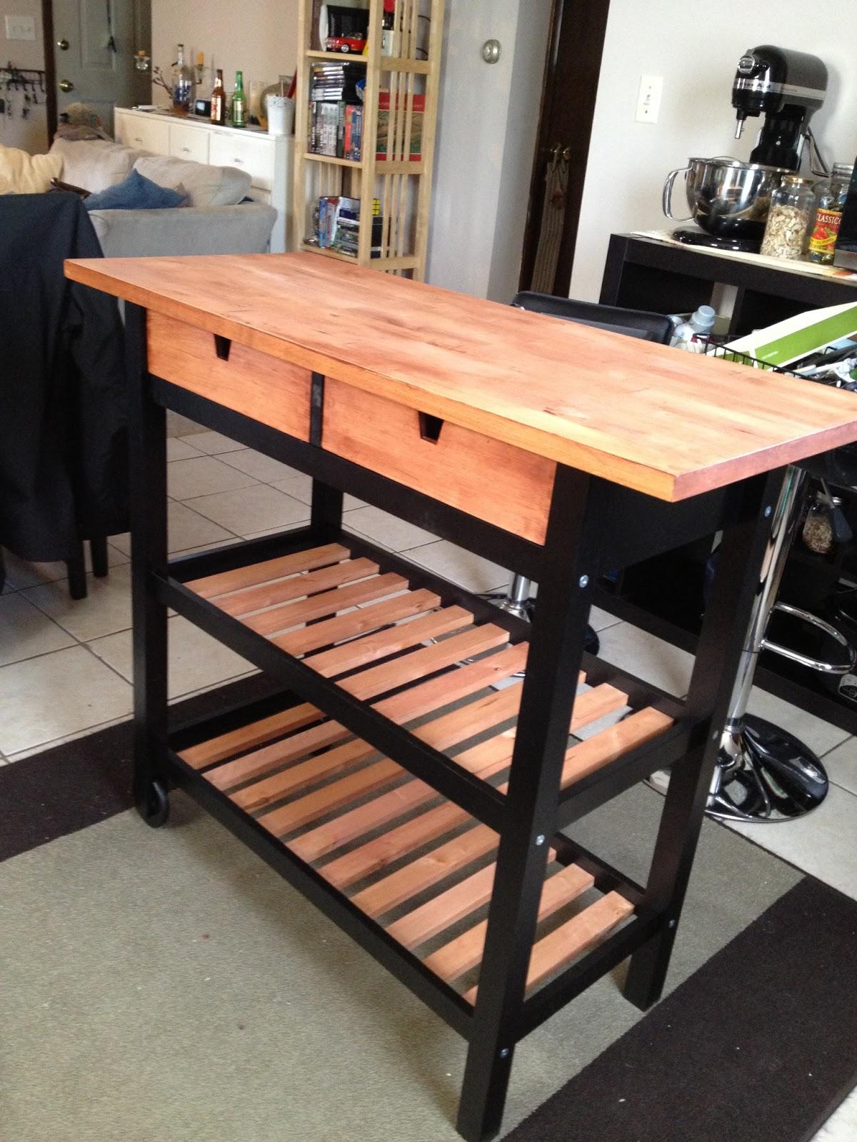 Ikea kitchen cart painted - F Rh Ja Redone