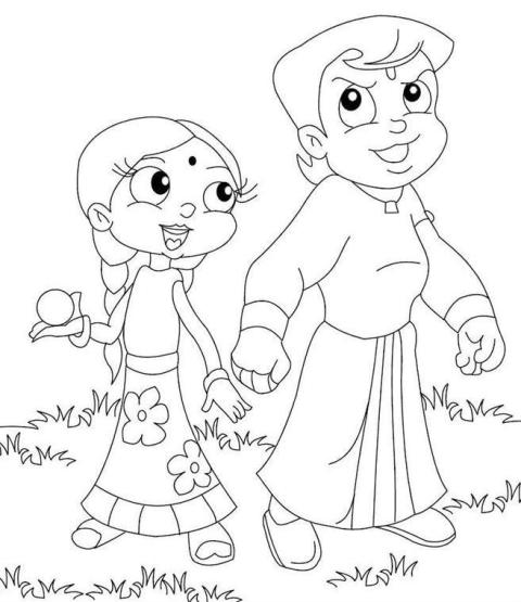 chota bheem team coloring pages - photo#34