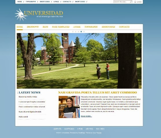 Universidad Educational WordPress Theme