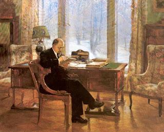 Ocho pinturas sobre Lenin en vísperas del aniversario de su muerte  Lenin+en+Gorky.+Nalbandian