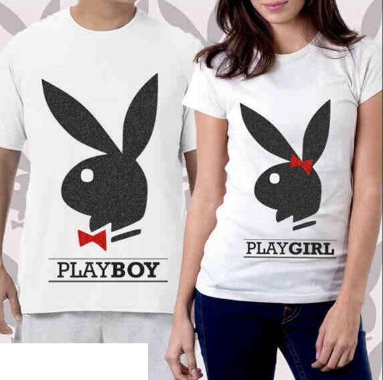 Jual Kaos Play Boy Couple Online Murah di Jakarta Lengan Pendek Trendy
