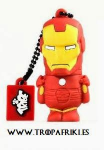 USB Iron Man Los Vengadores de Marvel 8GB y 16 GB
