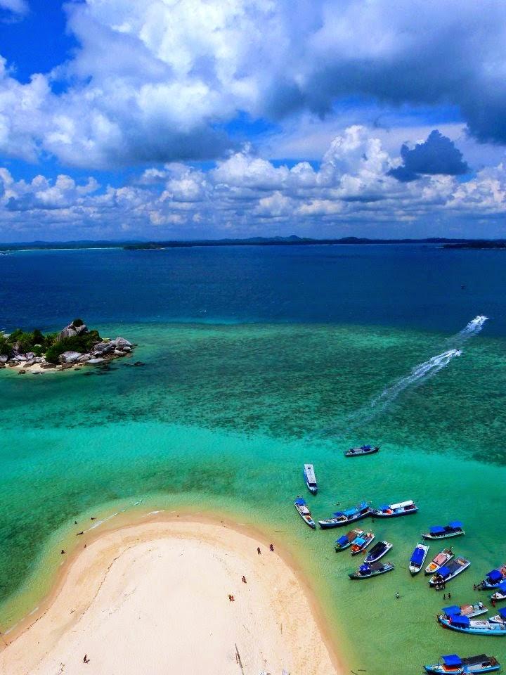 Lengkuas Island, Belitung. Indonesia