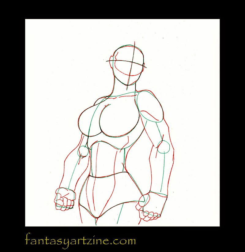 Drawing tutorial: How to draw She-Hulk anatomy and superheroine muscles.