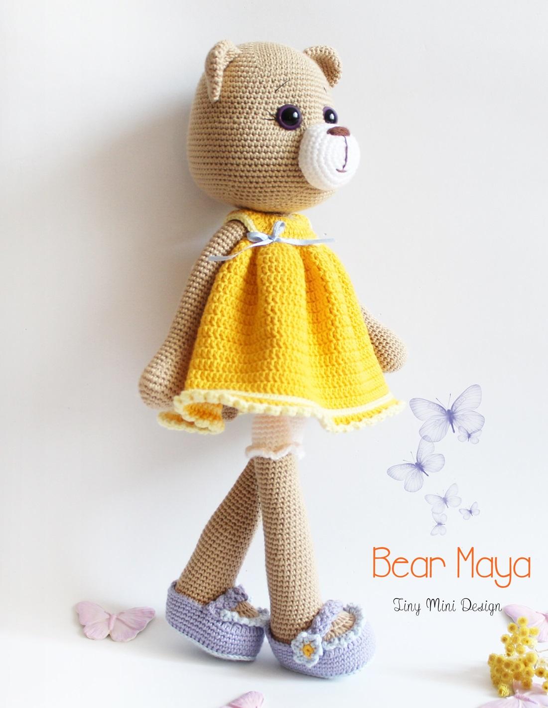 Amigurumi Bear Maya : Amigurumi Ayi Maya -Amigurumi Bear Maya - Tiny Mini Design