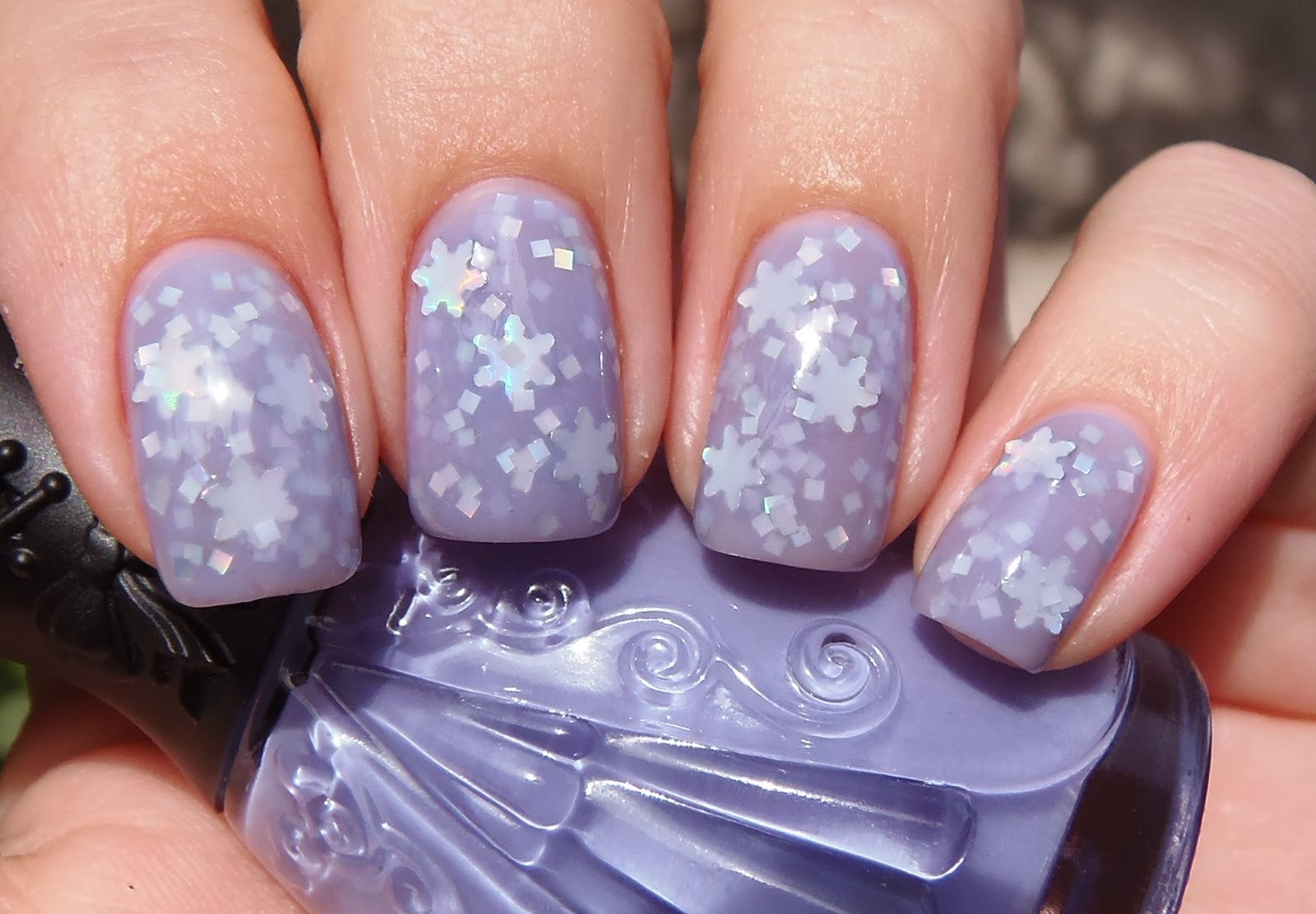 OPI Nail Envy 1 Coat Nfu Oh JS13 Sally Hansen Complete Salon Manicure Open Mica Night Silver Holographic Snowflakes From Glitter