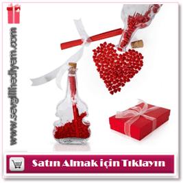 Aşkımın notası romantik hediye şişesi