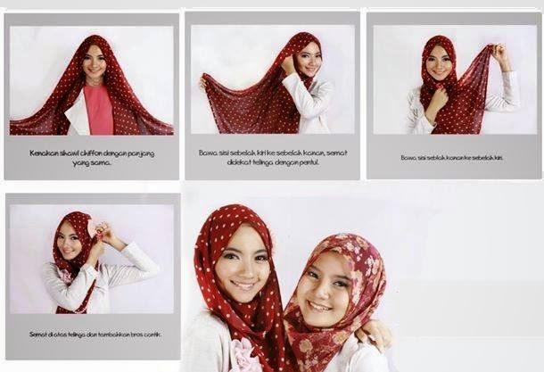 Cara Hijab Segi Empat Pelangi (Rainbow)
