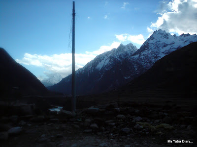 Amazing scenery as viewed from Mana village in the Himalayas