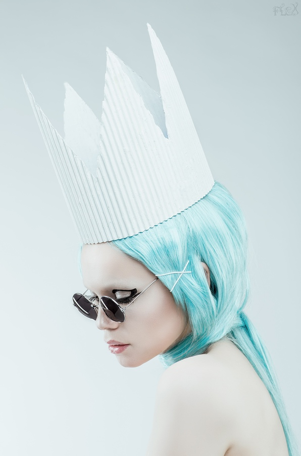 high fashion photography Snow Queen