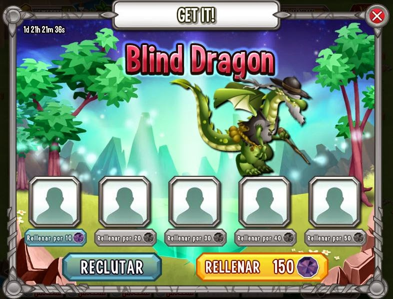imagen de gana gratis el dragon invidente de dragon city