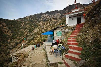 A cup of chai along the hike trek to Triund, Dharamsala