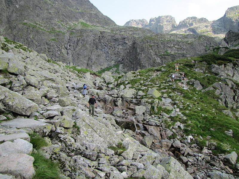 Zejście do Doliny Gąsienicowej.