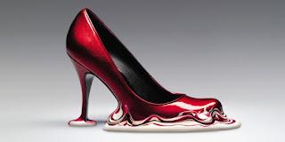 Zapato con diseño deretido