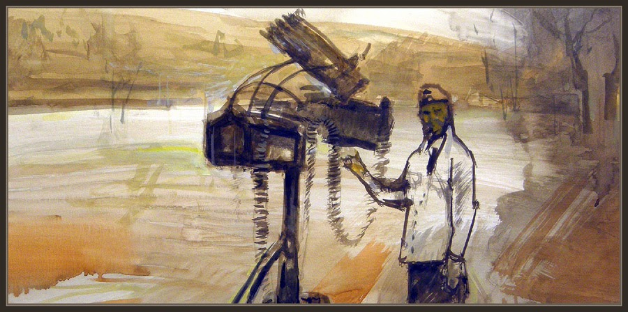 ARTE MILITAR-PINTURAS-SEGUNDA GUERRA MUNDIAL-PINTURA-ARTILLERIA-SOLDADO ALEMAN-WW2-ARTWORK-GERMAN SOLDIER-ARTISTS-PINTOR-ERNEST DESCALS-