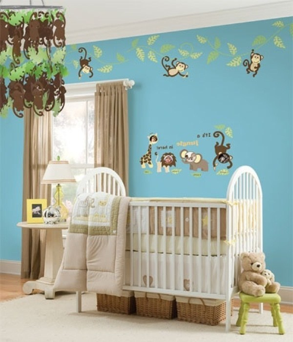 Decoraci n estilo safari en dormitorio del beb for Dormitorios para bebes