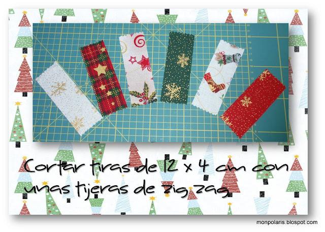 Corona de Navidad: cortar las telas