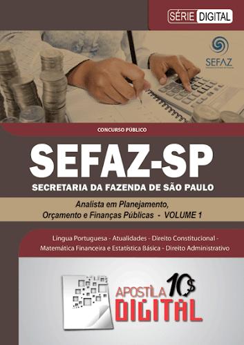 Apostila Digital SEFAZ Analista em Planejamento, Orçamento e Finanças Públicas - Volume 1 (cod ADSAPOFP1)