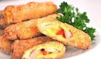 Fried Ham with Cheese Roll Recipe | Healthy Ham Recipe