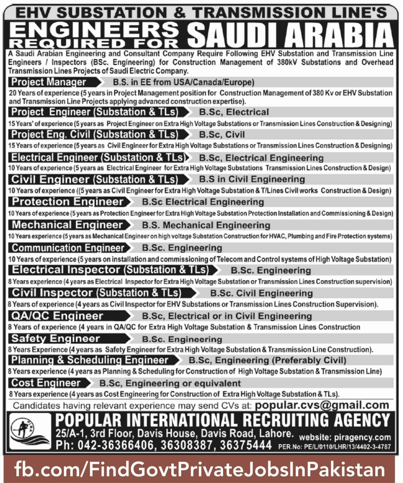 job opportunities published in newspaper