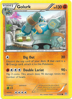 Golurk Ancient Origins Pokemon Card
