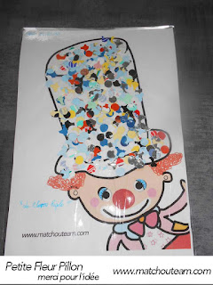 clown collage crèche
